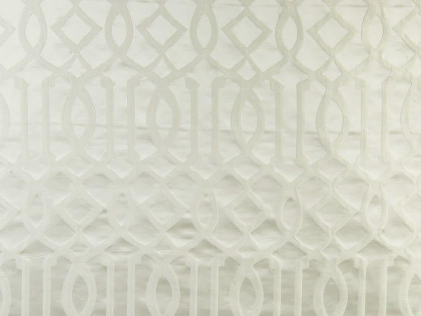 Fabric with graphic pattern for curtains MASTER TRELLIS - Aldeco, Interior Fabrics