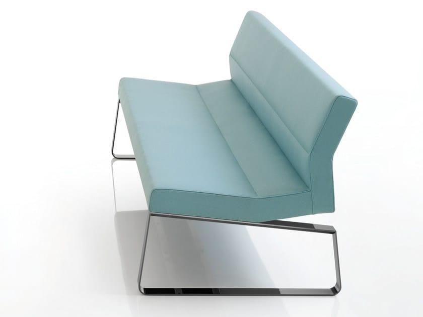Fabric small sofa INKA STEEL L 100 ST D by BILLIANI
