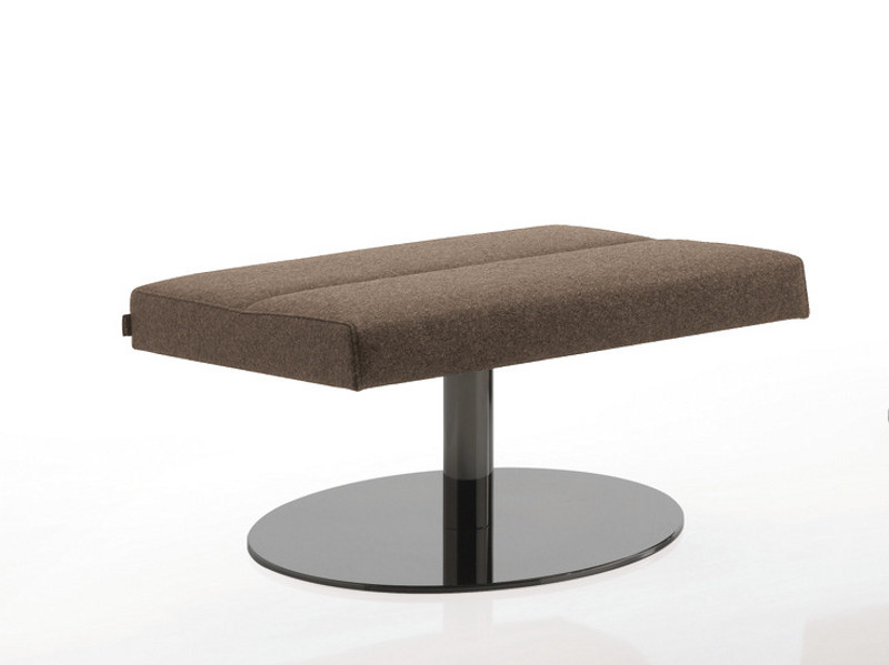 Swivel upholstered fabric stool INKA STEEL S 50 ST B by BILLIANI