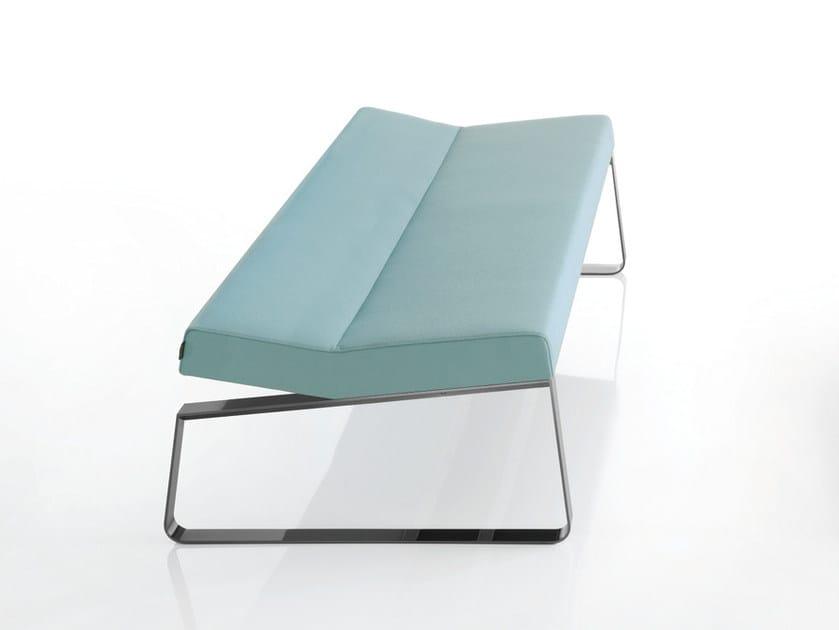 Upholstered fabric bench INKA STEEL L 100 ST P - BILLIANI