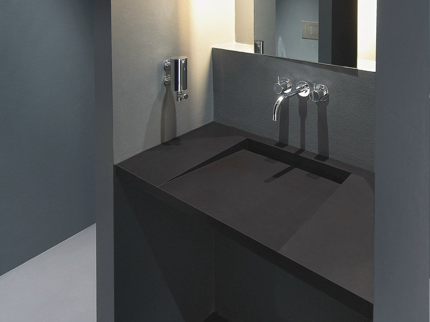 Wall-mounted Solid Surface® washbasin GETACORE® | Washbasin - GetaCore® by Westag & Getalit