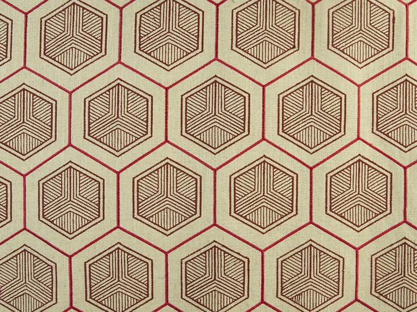 Upholstery fabric with graphic pattern HEXADDICTION by Aldeco
