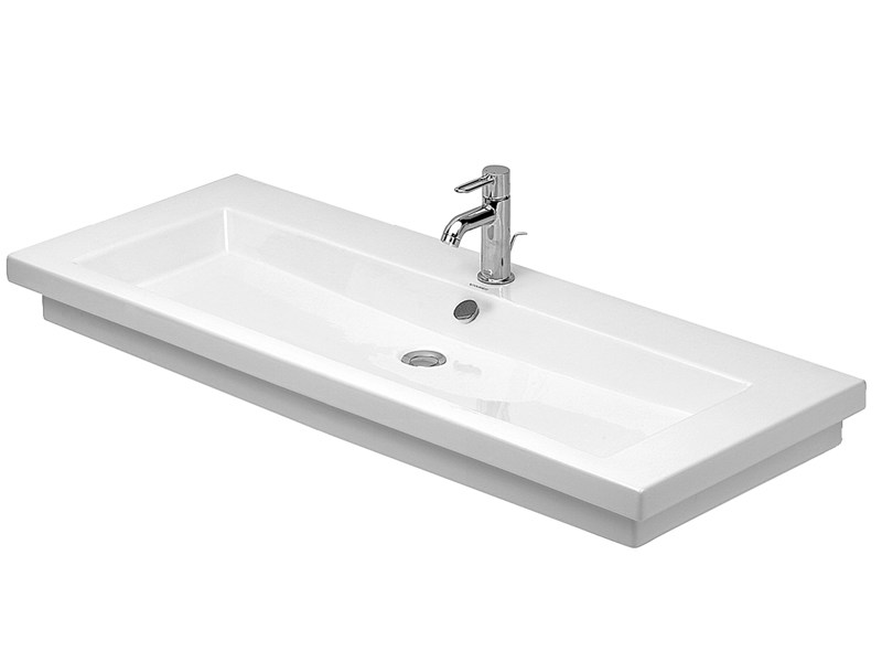 Rectangular single ceramic washbasin 2ND FLOOR | Single washbasin - DURAVIT