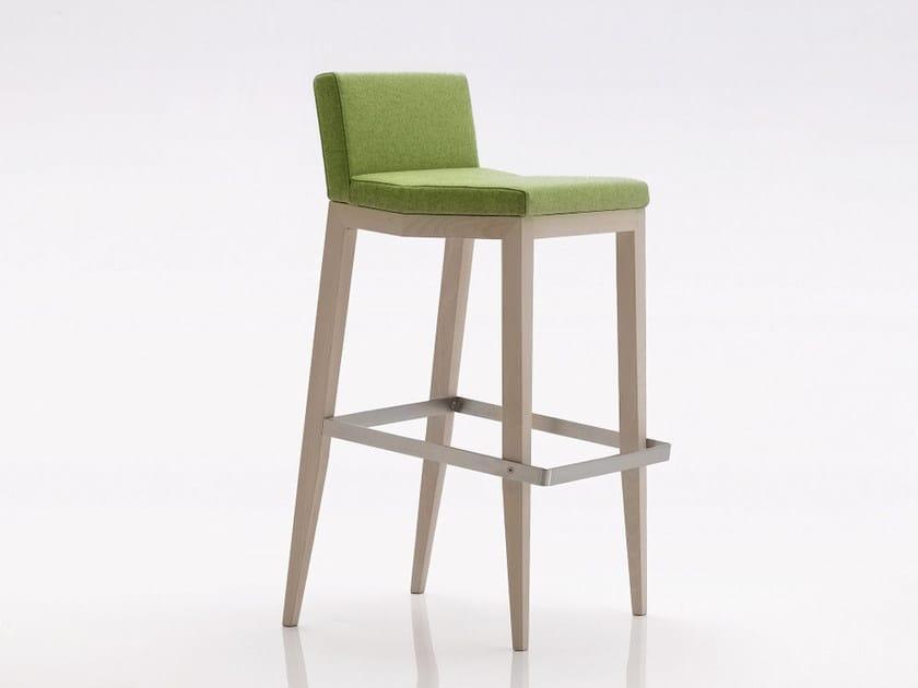 Upholstered fabric counter stool INKA WOOD A 300 SS - BILLIANI