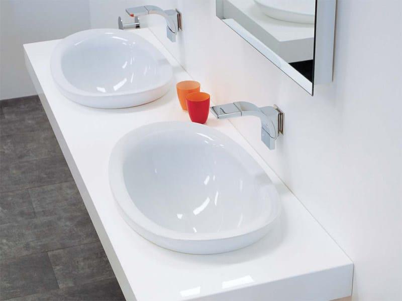 Io lavabo da incasso soprapiano by ceramica flaminia - Flaminia sanitari bagno ...