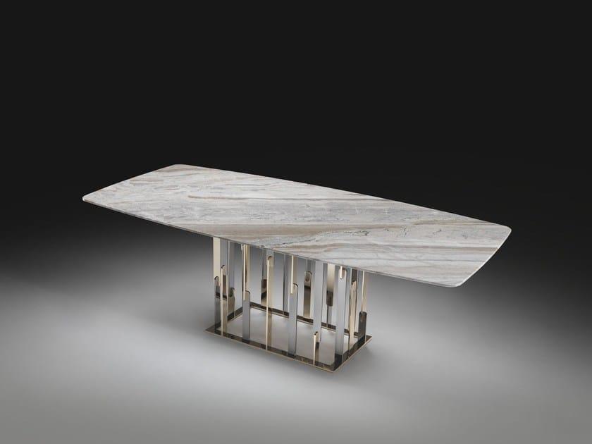 Tavolo da pranzo rettangolare in marmo ruben by klab - Tavolo marmo design ...