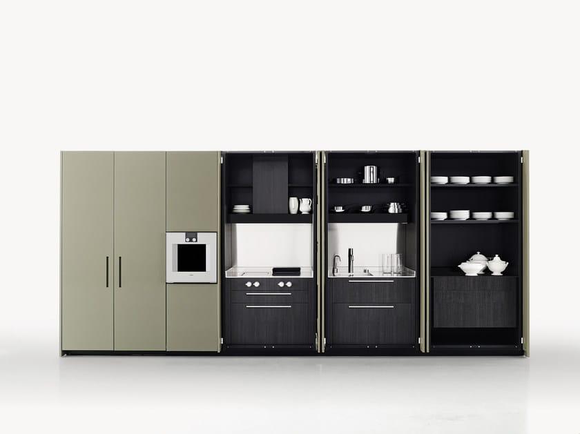 Cucina mobile lavanderia in legno hide boffi for Boffi cucine a scomparsa