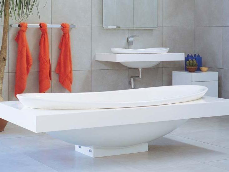 Vasca da bagno centro stanza in Pietraluce® IO  Vasca da bagno centro stanza - CERAMICA FLAMINIA