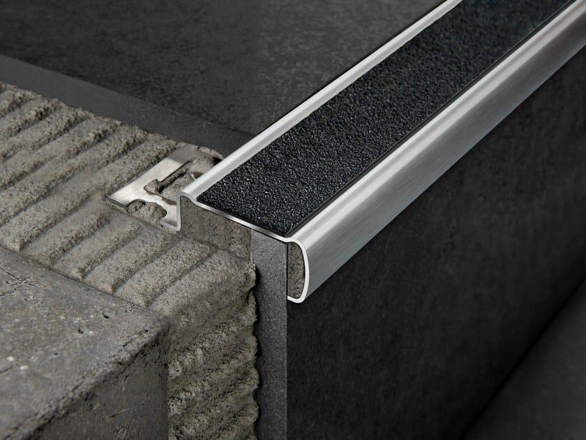 Brushed steel Step nosing PROSTAIR GRIP ACC - PROGRESS PROFILES