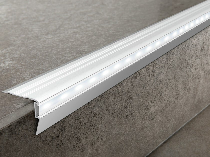 LED aluminium Step nosing PROSTAIR LED by PROGRESS PROFILES