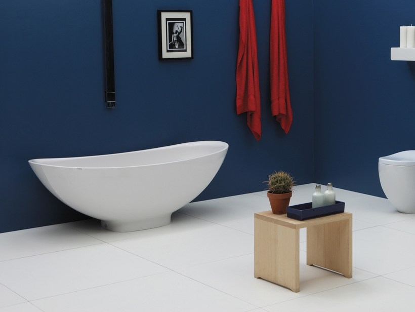 Vasca da bagno in pietraluce io vasca da bagno ceramica flaminia - Vasca da bagno ceramica ...