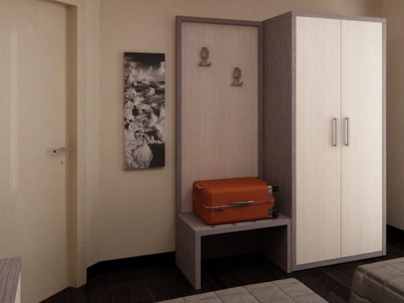 Melamine-faced chipboard wardrobe for hotel rooms FASHION | Wardrobe for hotel rooms - Mobilspazio