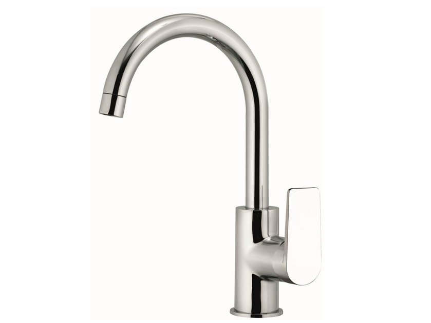 Single-lever one-hole sink mixer with short movable spout DREAM | Kitchen mixer tap with swivel spout by Remer Rubinetterie