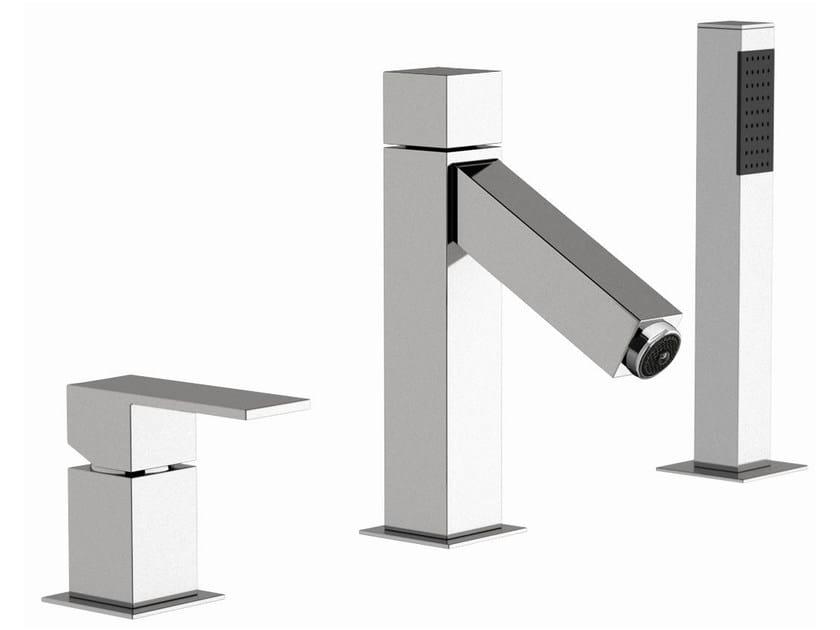 Single handle LED bathtub set Q-COLOR | Bathtub set - Remer Rubinetterie