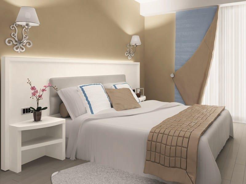 Letto matrimoniale con testiera alta per hotel FASHION  Letto per hotel - Mo...