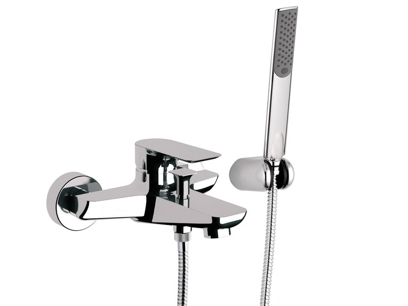 Single handle bathtub mixer with hand shower INFINITY | Bathtub mixer - Remer Rubinetterie
