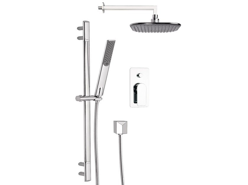 Shower wallbar with diverter with hand shower with hose INFINITY - Remer Rubinetterie