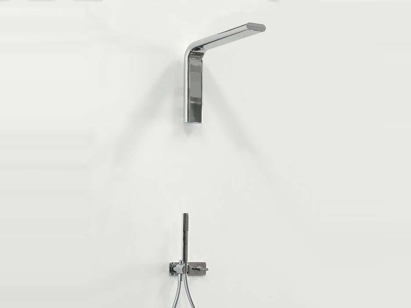 Shower mixer with hand shower with overhead shower NOKE' | Shower mixer with overhead shower - CERAMICA FLAMINIA