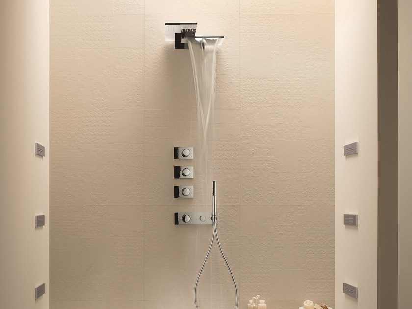 4 hole thermostatic shower mixer with hand shower MILANO - 4714 by Fantini Rubinetti