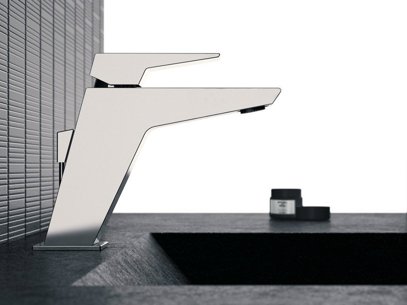 Single-lever basin mixer without pop-up waste SPEED | Washbasin mixer - Daniel Rubinetterie