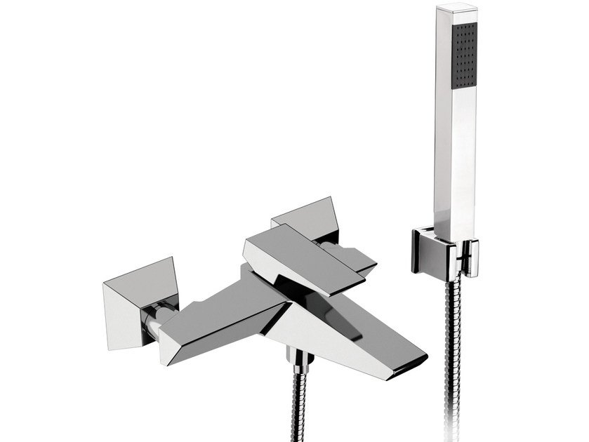 Single handle bathtub mixer with hand shower SPEED | Bathtub set by Daniel Rubinetterie