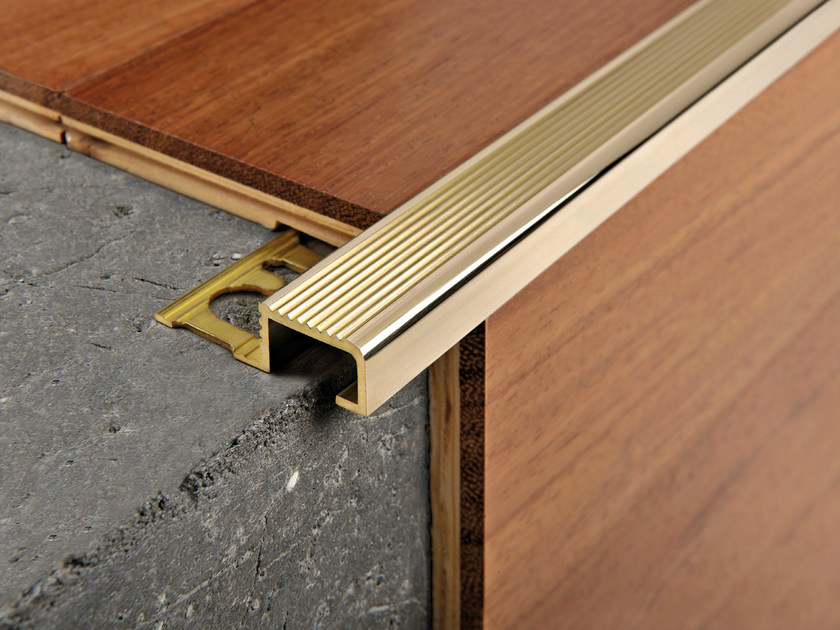 Metal Step nosing PROBRASTEP   Brass Step nosing - PROGRESS PROFILES