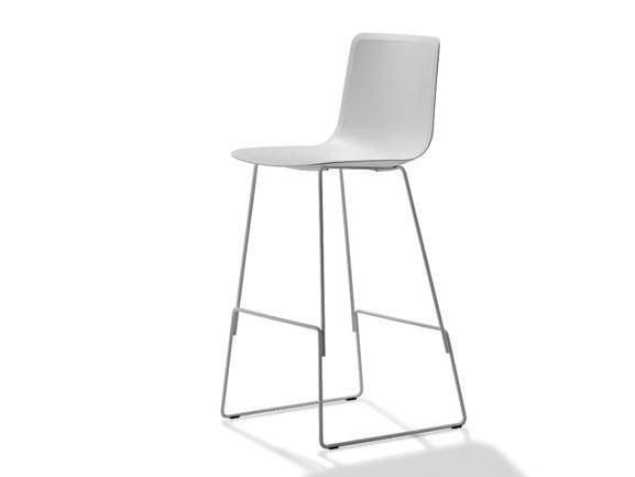 High sled base stool PATO | Stool - FREDERICIA FURNITURE