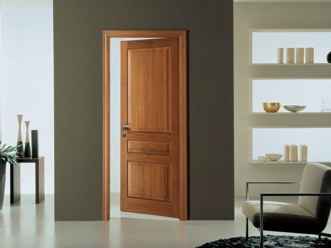 Hinged solid wood door CLASSICA | Oak door by GAROFOLI