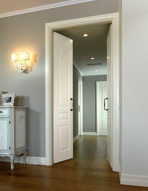 Porta a battente laccata in legno massello sublimia for Battente porta