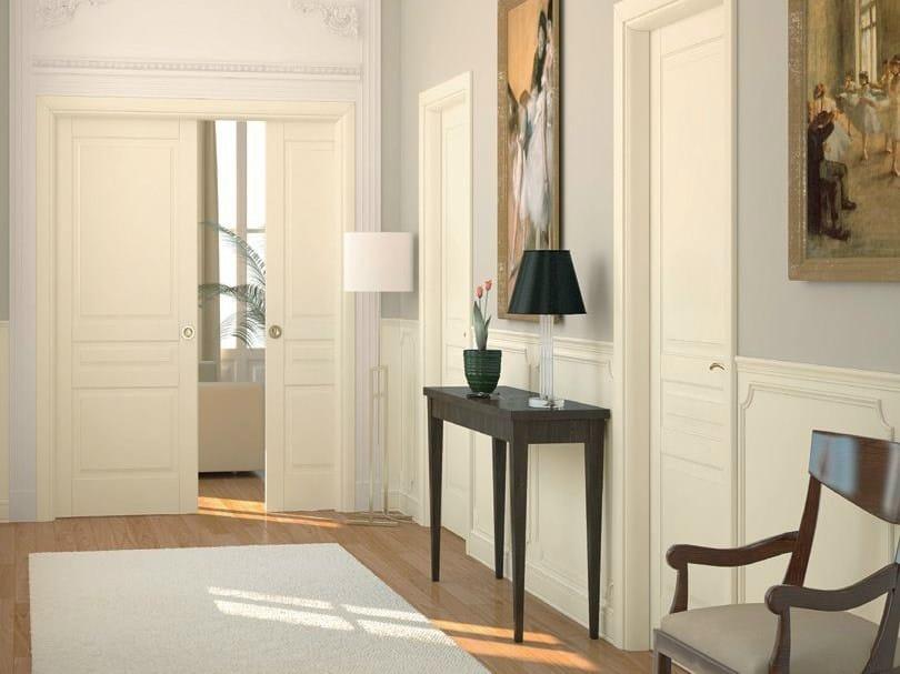 Porta laccata scorrevole a scomparsa in legno massello sublimia porta scorrevole a scomparsa - Porte scorrevoli ad angolo ...