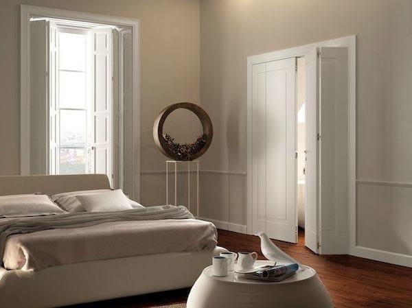 Folding lacquered solid wood door MIRAQUADRA | Folding door - GAROFOLI