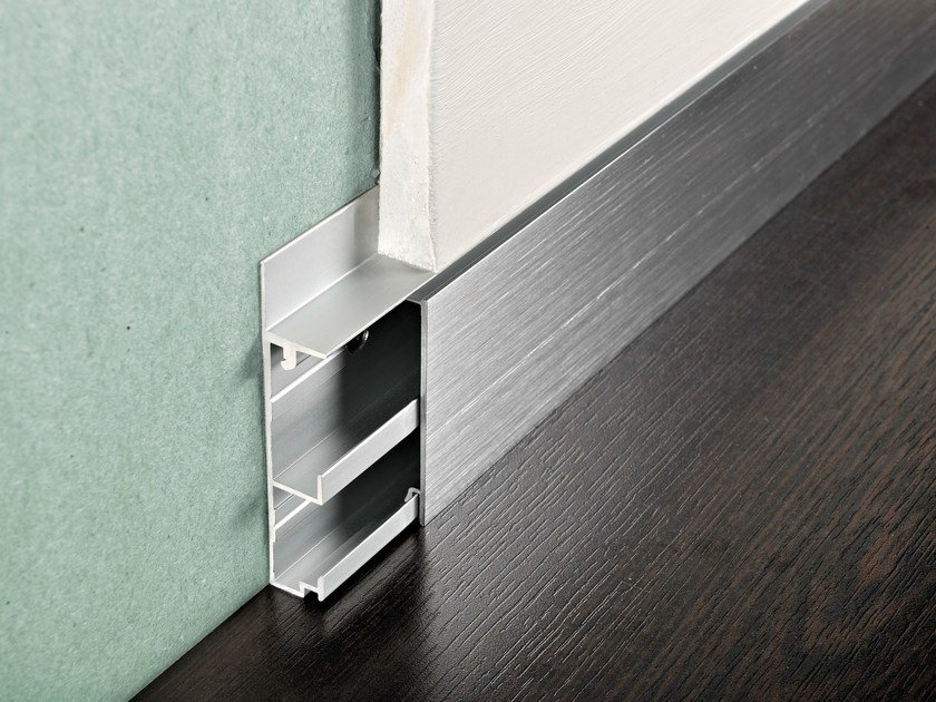 Aluminium Skirting board PROSKIRTING CHANNEL - PROGRESS PROFILES