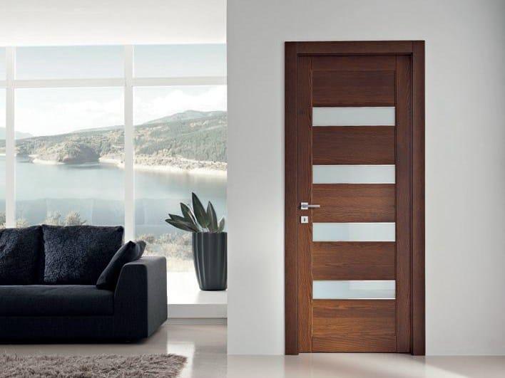 Hinged solid wood door GAVISIO | Oak door - GAROFOLI