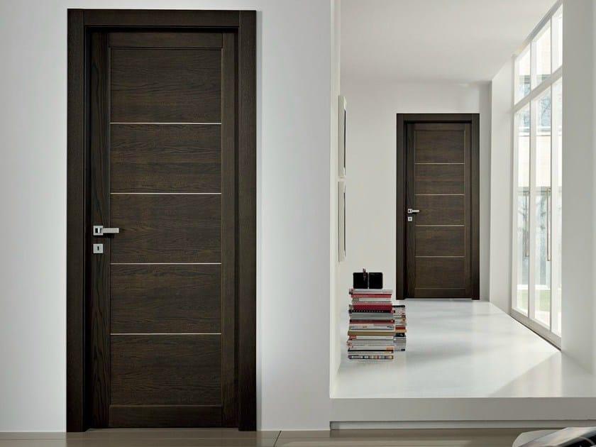 Hinged solid wood door GAVISIO | Wenge door - GAROFOLI
