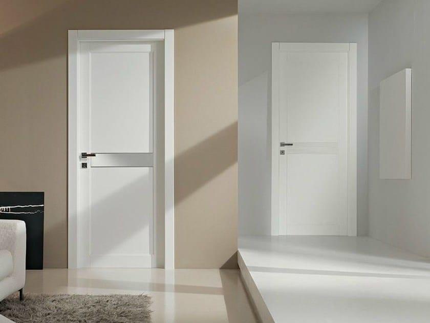 Porta a battente laccata in legno massello gavisio porta - Porte da interno bianche ...