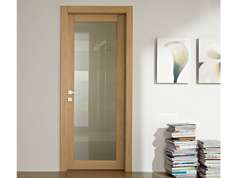 Hinged glass door GAVISIO | Glass door - GAROFOLI