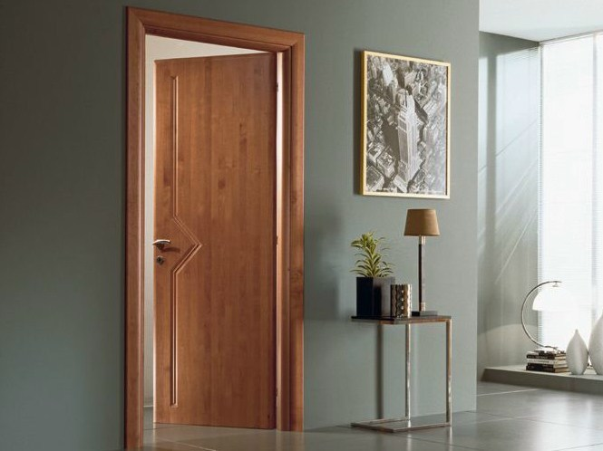 Hinged solid wood door IO | Cherry wood door - GAROFOLI