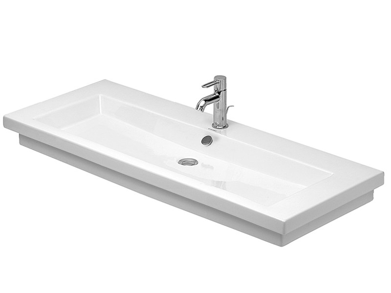 Rectangular single washbasin with overflow 2ND FLOOR | Rectangular washbasin - DURAVIT