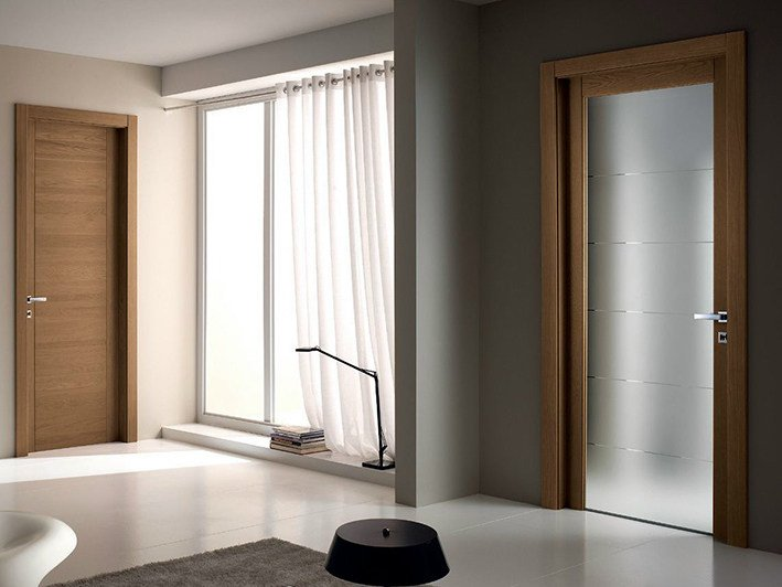 Hinged glass door PANGEA | Glass door - GAROFOLI