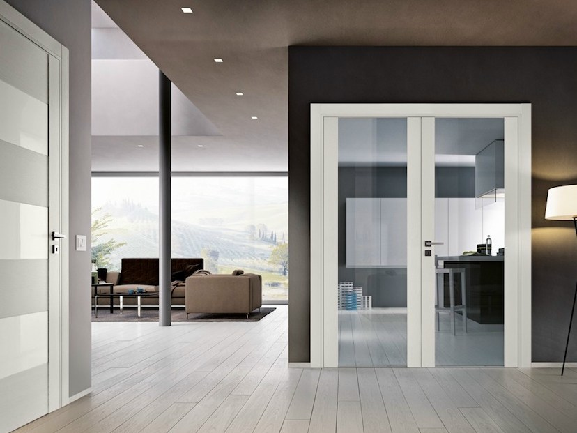 Hinged glass door GABILIA | Glass door - GAROFOLI