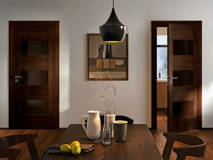 Hinged solid wood door GABILIA | Wenge door by GAROFOLI