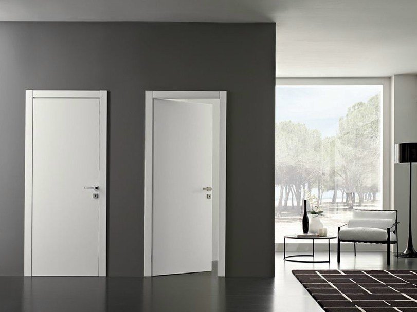 Hinged lacquered wooden door POEMA | Lacquered door - GAROFOLI