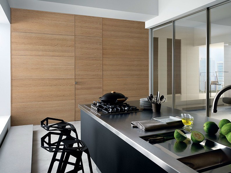 Hinged flush-fitting oak door GDESIGNER | Flush-fitting door - GAROFOLI