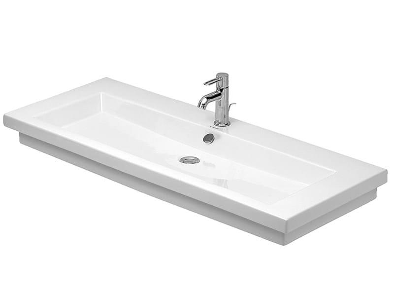 Rectangular grinded single washbasin 2ND FLOOR   Grinded washbasin - DURAVIT