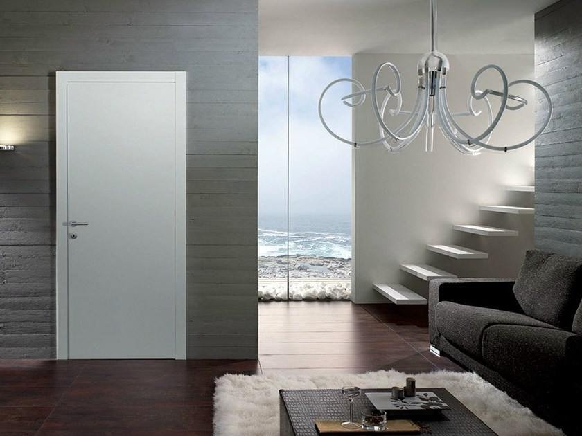 Hinged lacquered wooden door QUARANTA | Lacquered door - GAROFOLI