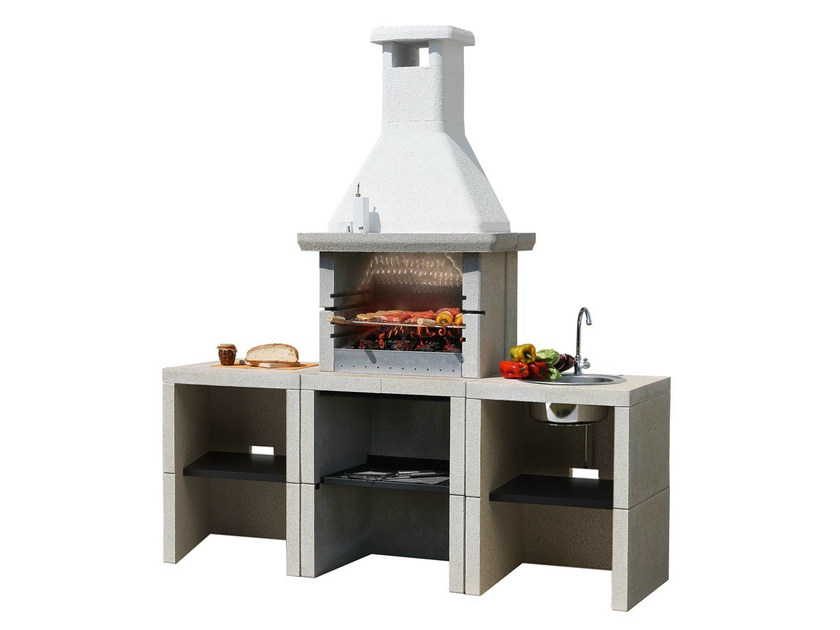 Gas outdoor kitchen with Barbecue MELODY 3 Yung - Sunday