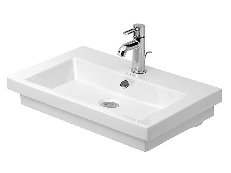 Grinded single washbasin with overflow 2ND FLOOR | Grinded washbasin - DURAVIT