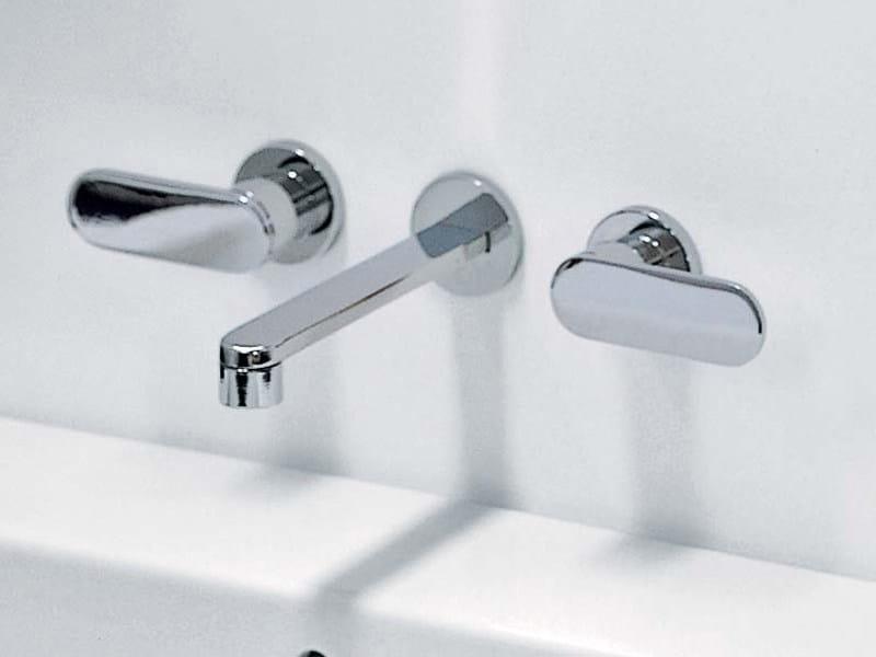 3 hole wall-mounted washbasin tap ONE | Wall-mounted washbasin tap - CERAMICA FLAMINIA