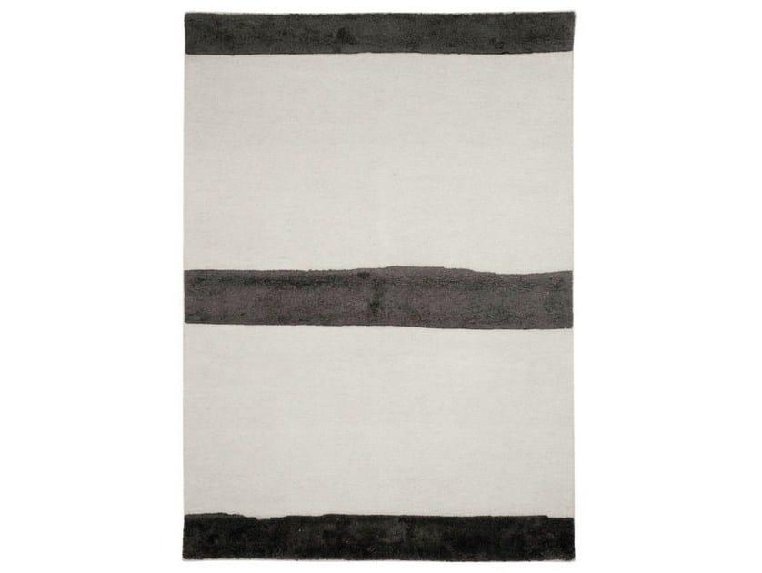 Handmade striped rug FIELDS - Warli