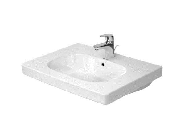 Rectangular single ceramic washbasin with overflow D-CODE | Single washbasin - DURAVIT